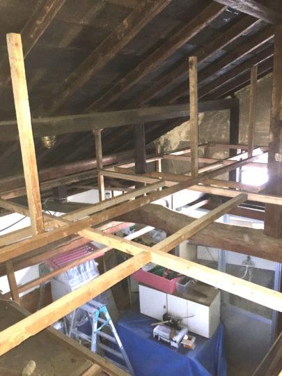 鍼灸院増設②天井下地つくり