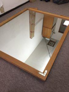 鍼灸院増設工事⑨鏡の加工