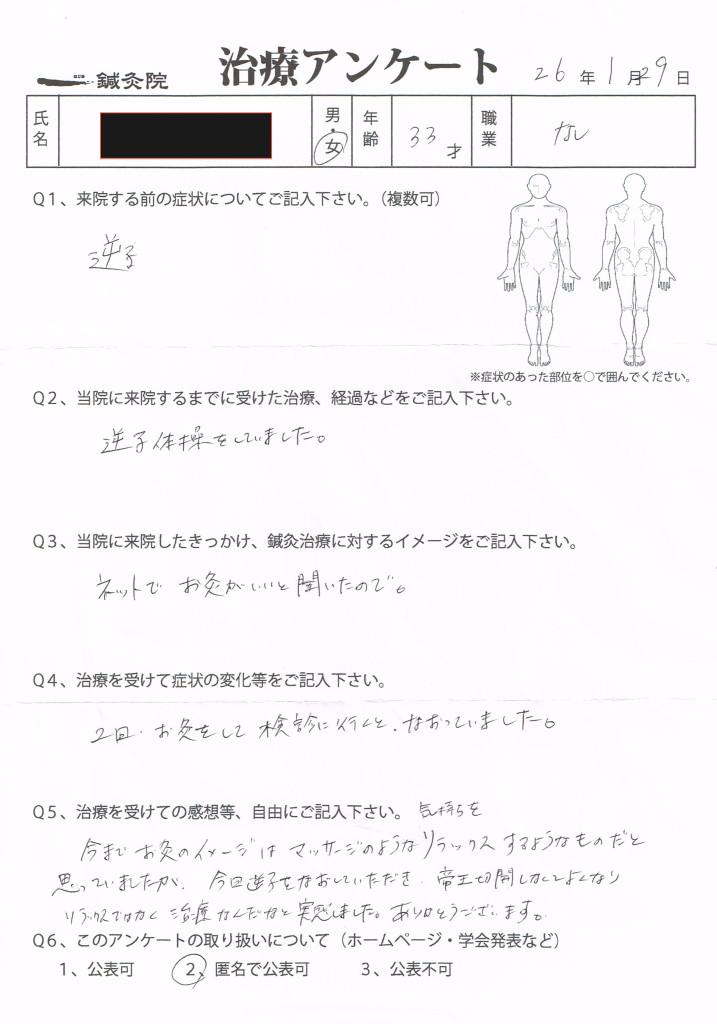 治療アンケート(逆子)