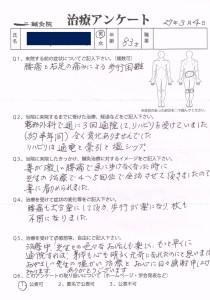歩行困難を伴う腰痛の症例