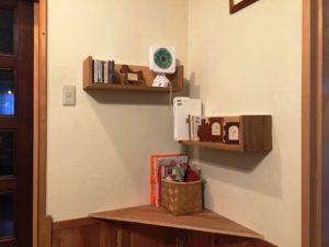 コーナーの飾り棚・ウオールボックス